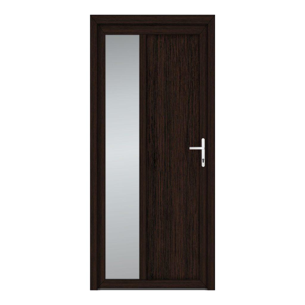 тип 8 межкомнатной двери пвх со стеклом