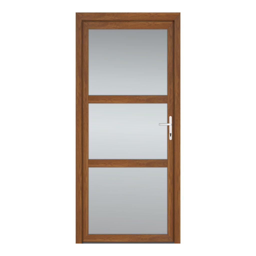 тип 9 межкомнатной двери пвх со стеклом