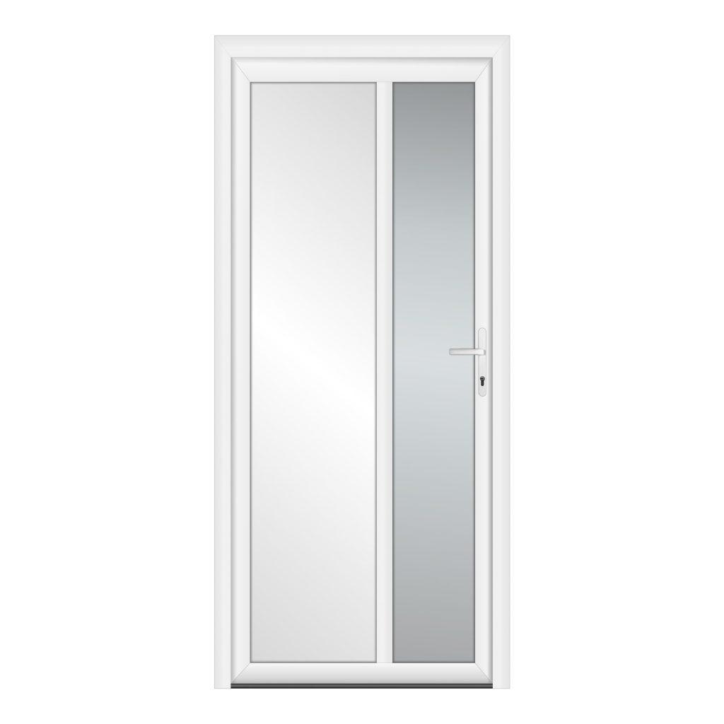 тип 1 межкомнатной двери пвх со стеклом