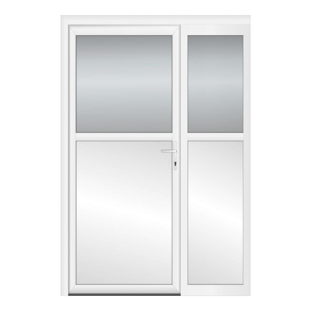 тип 5 межкомнатной двери пвх со стеклом