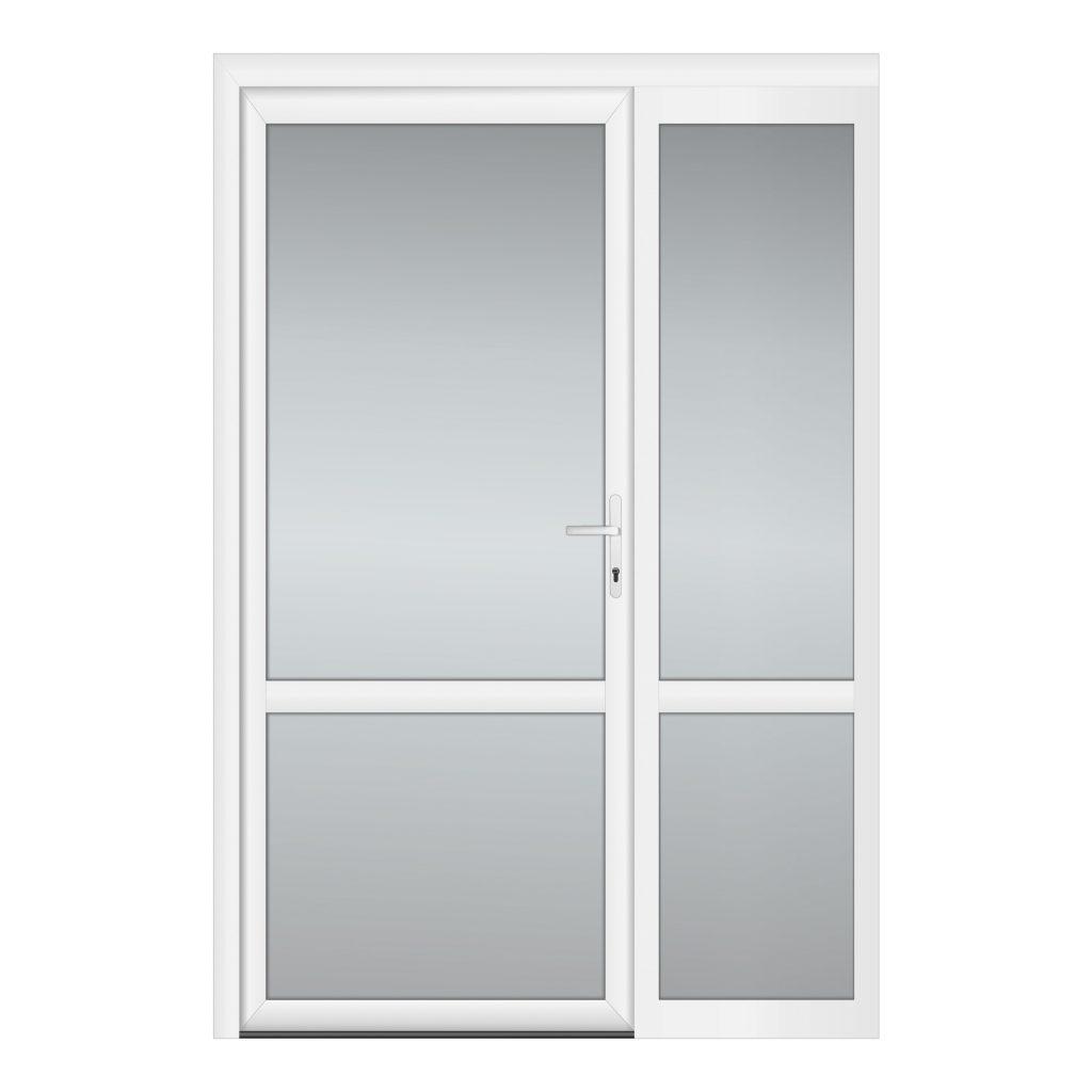 тип 6 межкомнатной двери пвх со стеклом