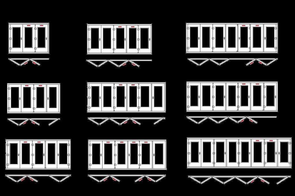 схемы открывания гармошки пвх - схема Континент (Смела)