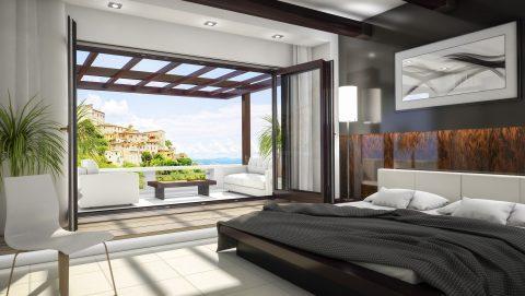 раздвижка гармошка в спальне - фото Континент (Смела)