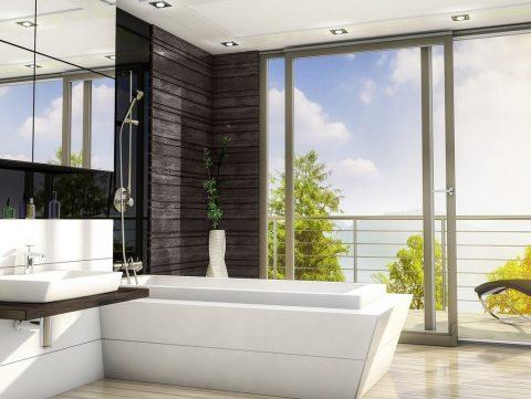 наклонносдвижная система в ванной - фото Континент (Смела)