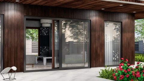 раздвижные двери в частном коттежде - фото Континент (Смела)